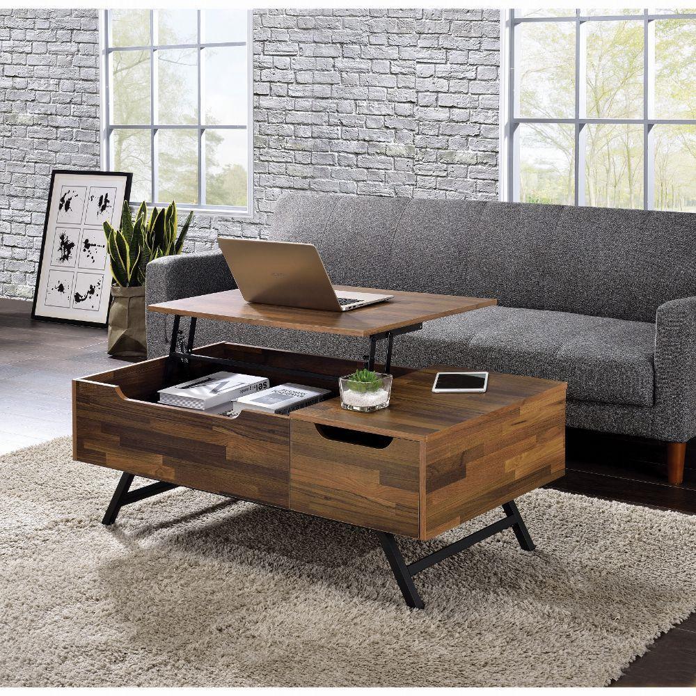 Acme Throm Coffee Table W Lift Top 83145 Scandinavian Metal Tube Iron Paper Veneer Pu Pb Living Room Coffee Table Living Room Table Coffee Table [ 1000 x 1000 Pixel ]