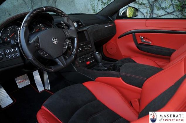 With alcantara sport seats carbon fiber door handles and - Maserati granturismo red interior ...
