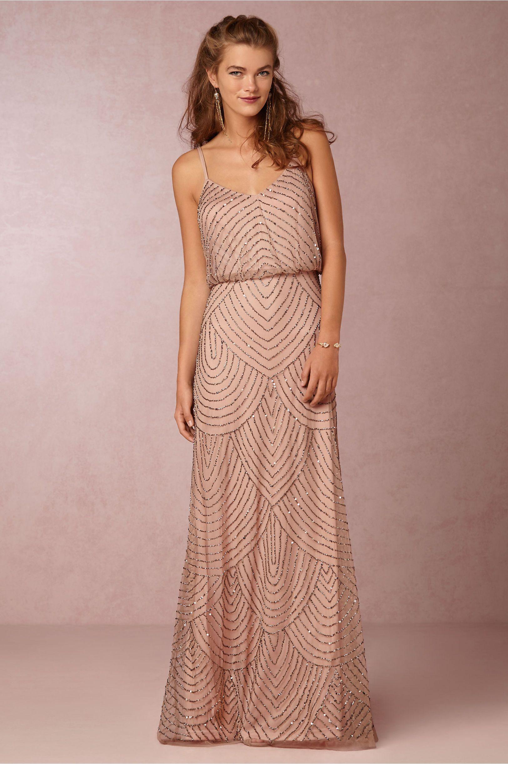 BHLDN Obreanna Dress Taupe/Pink 4 Size 4 | Brautkleider und Kleider