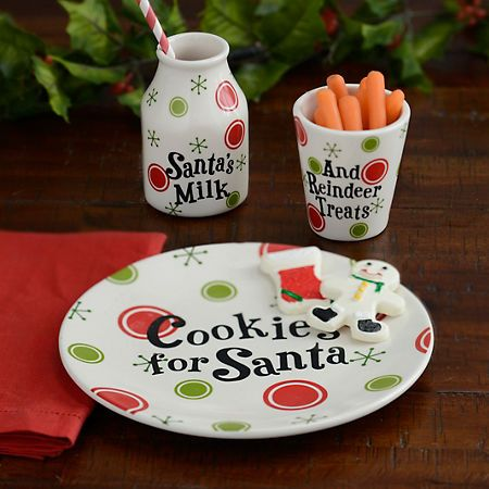Product Details Cookies And Milk For Santa Set Of 3 Christmas
