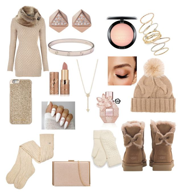 """Pretty winter looks"" by rainn1233 on Polyvore featuring UGG, Michael Kors, Loro Piana, EF Collection, BP., FOSSIL, Cartier, Avon, tarte and MAC Cosmetics"