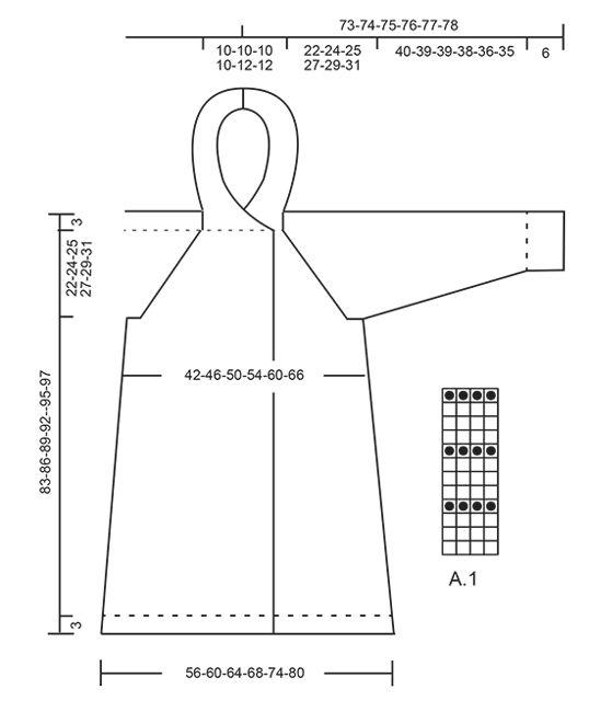 jakke strikket med Strikket strukturmønster og hætte raglan awFP1x8H
