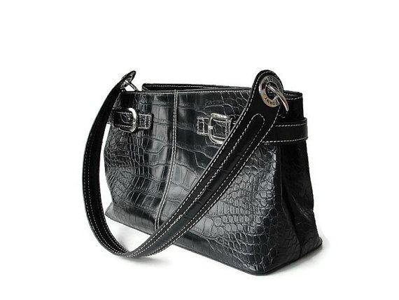tommy hilfiger black leather purse