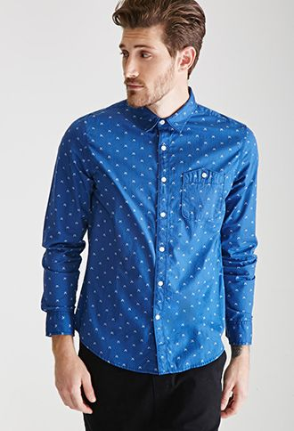 Crossed Arrow Print Shirt 21 Men 2000099337 With Images