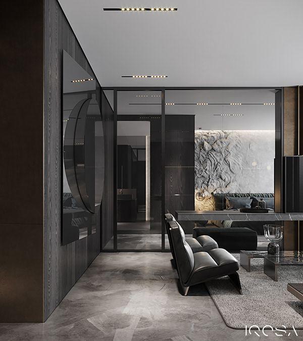 Iq 73 Dm On Behance Interior Design Studio International Interior Design Modern Bedroom Design