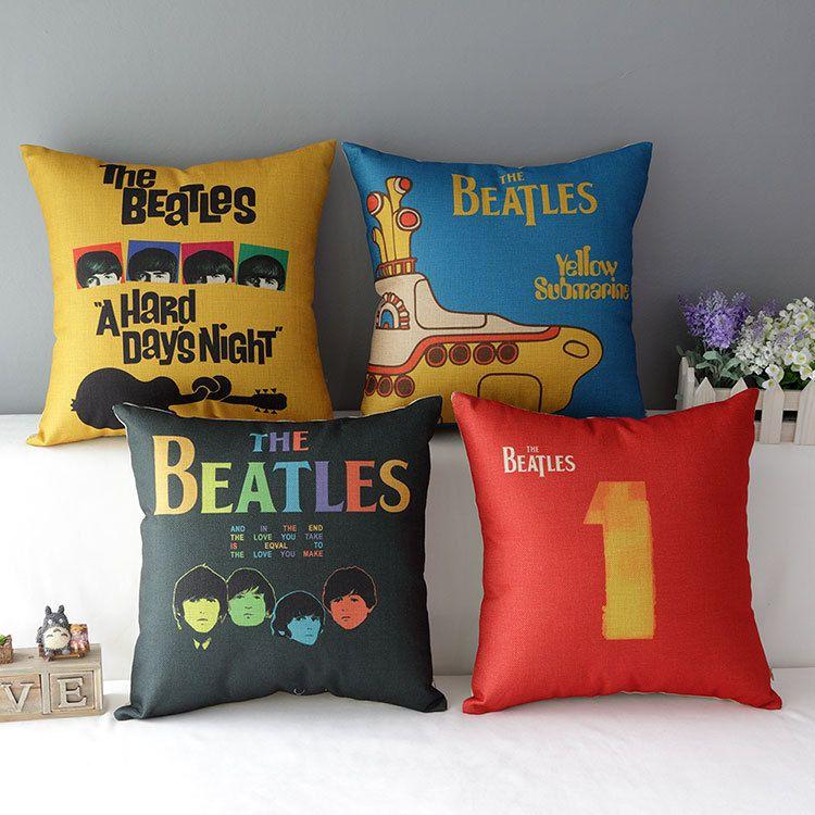 Beatles Nursery Pillows Decorative Sofa Pillows Beatles Baby Room
