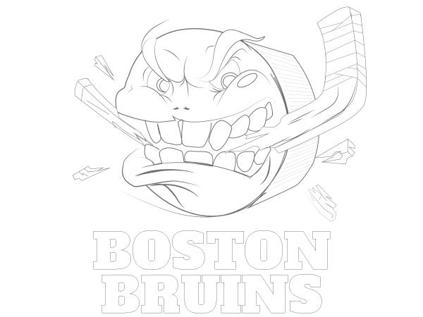 Printable Boston Bruins Coloring Sheet | NHL Coloring Sheets ...