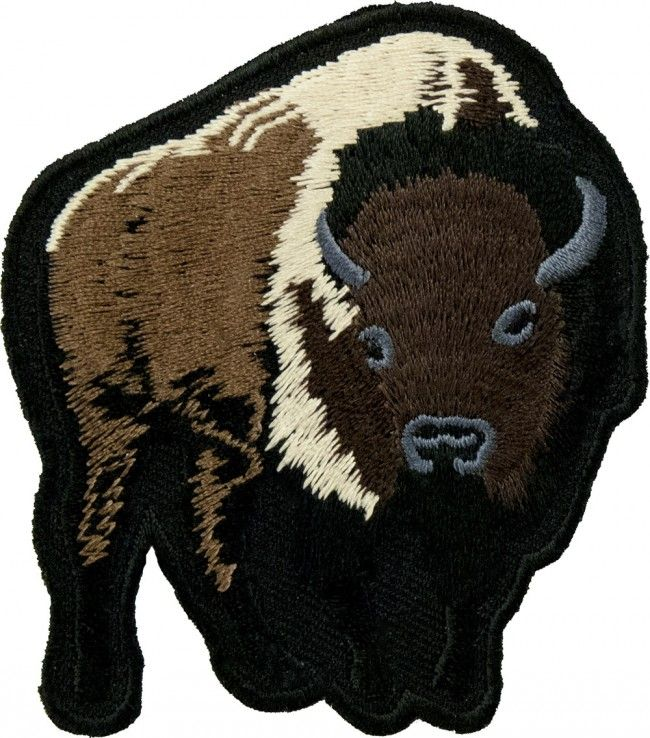 Wild Animals Embroidered Iron On Patch Southwest Design Bear