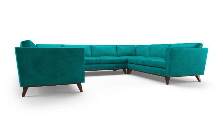 Roller Leather U-Sofa Sectional