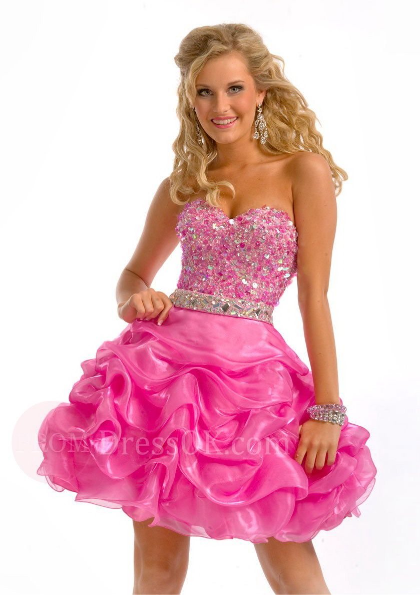 Collection Short Pink Prom Dresses Pictures - Reikian
