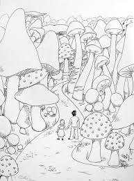 Afbeeldingsresultaat Voor Magic Mushroom Coloring Pages Mit Bildern Pilz Zeichnung Wenn Du Mal Buch Kostenlose Erwachsenen Malvorlagen