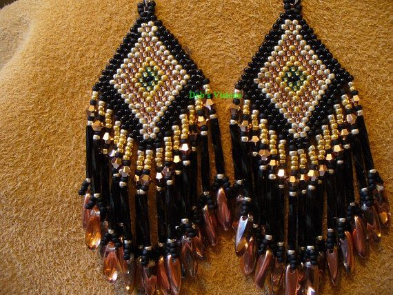 earrings with the look of black hills gold