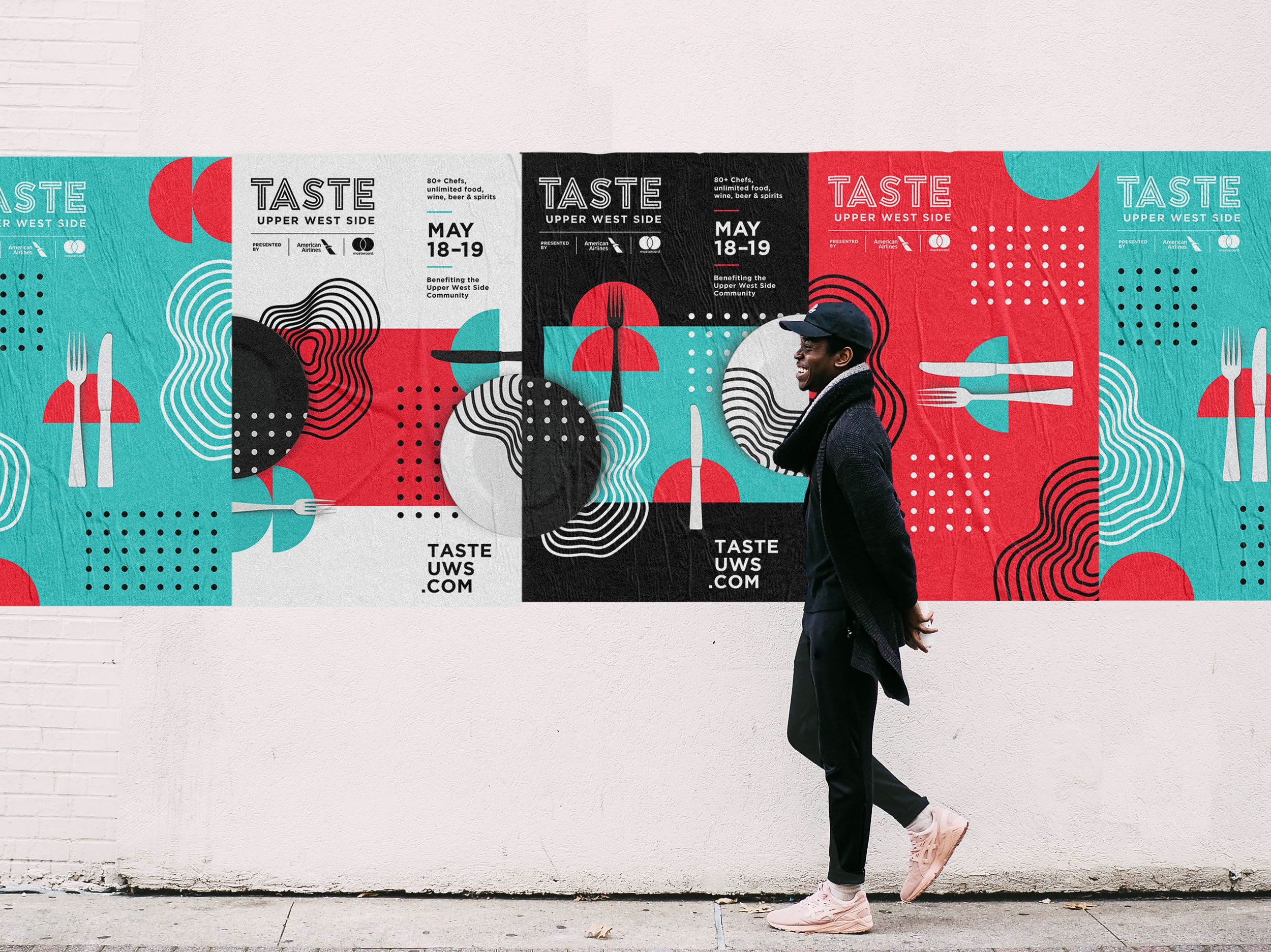 Taste Of The Upper West Side Food Festival On Behance Veb Dizajn Dizajn Logotip