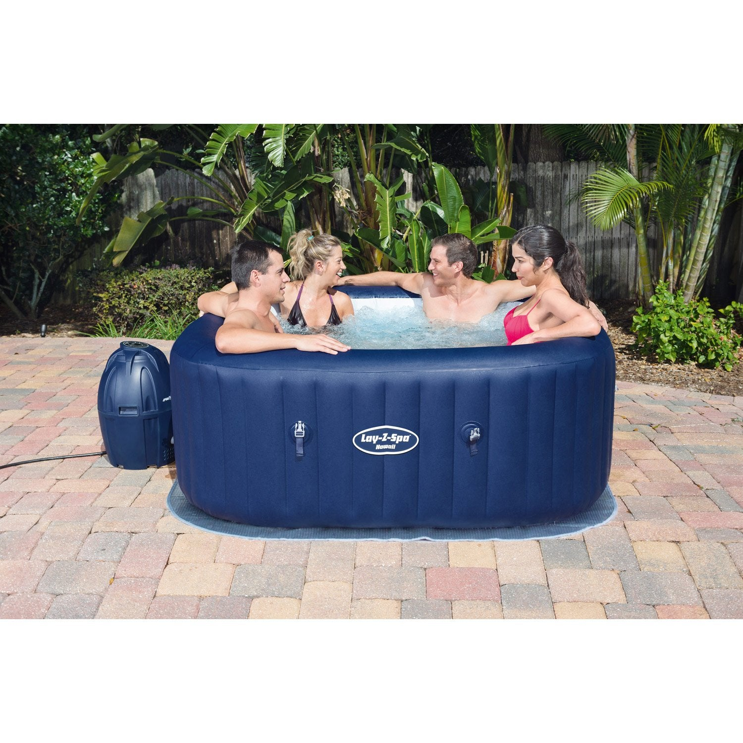 Spa Leroy Merlin Intex 6 Places spa gonflable bestway hawaï carré | jacuzzi gonflable, spa