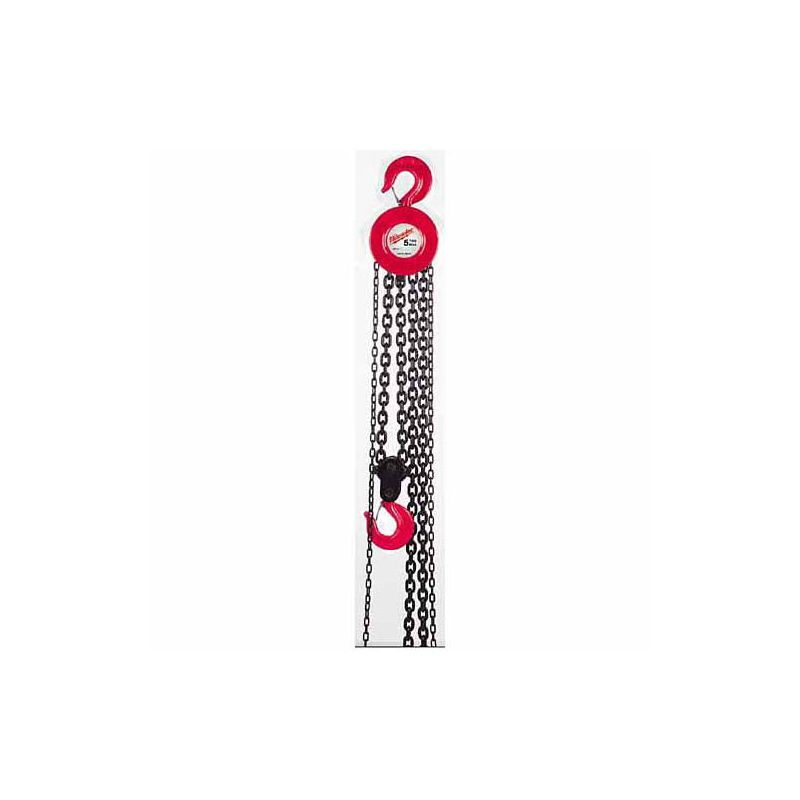 Milwaukee 9668 20 1 2 Ton Hand Chain Hoist With 15ft Lift Height Metal Hand Tools Hoists Hand Chain Hoists Hand Chain Hand Tools Hoist