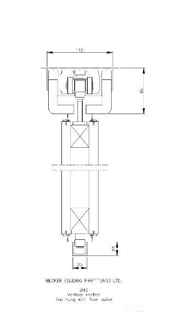Türzarge detail dwg  Sliding door top hung detail | Bathroom Ideas | Pinterest