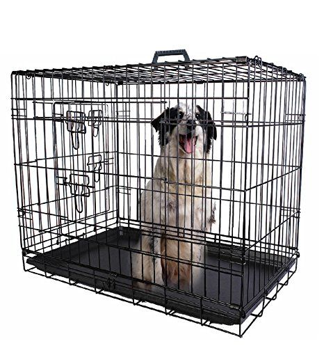 30 2 Doors Wire Folding Pet Crate Dog Cat Cage Suitcase Kennel Playpen W Tray Review Https Thepetsupplystore Net 30 2 Doors Dog Cages Cat Cages Dog Playpen