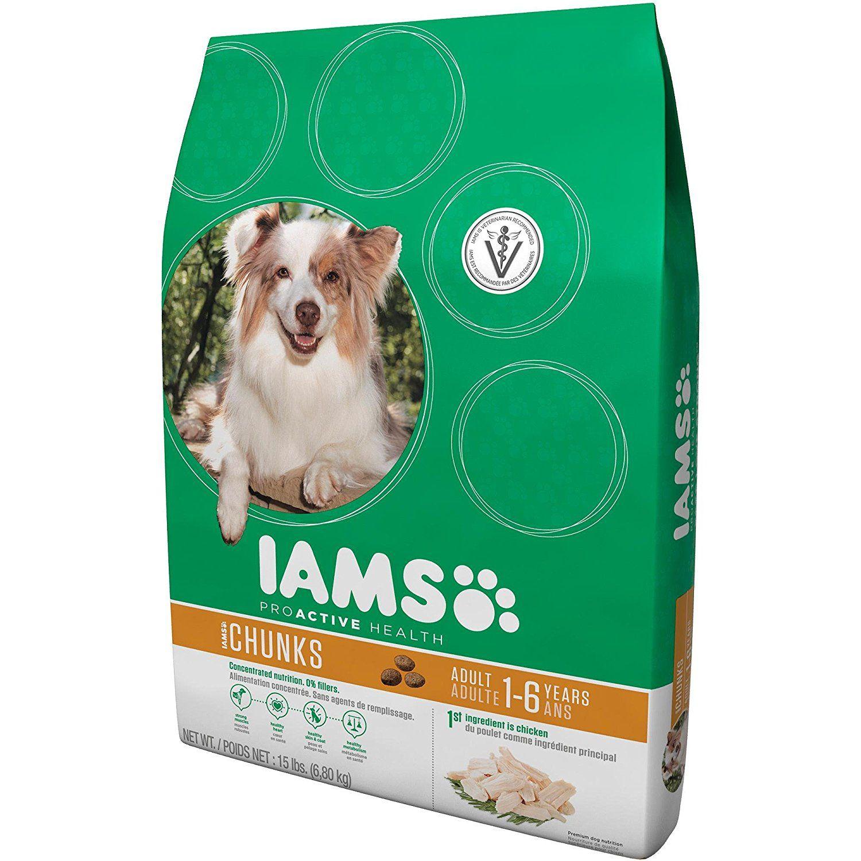 Iams proactive health adult chunks premium dog food 15 lbs