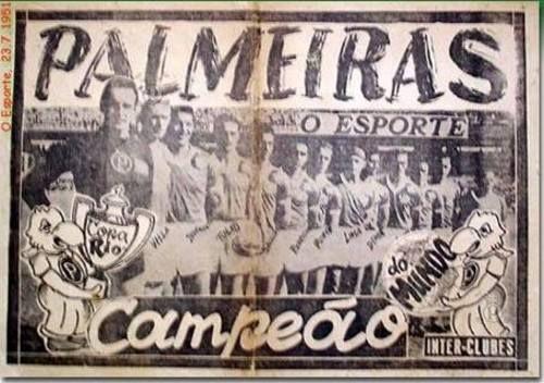 O ESPORTE: Pôster do Palmeiras campeão