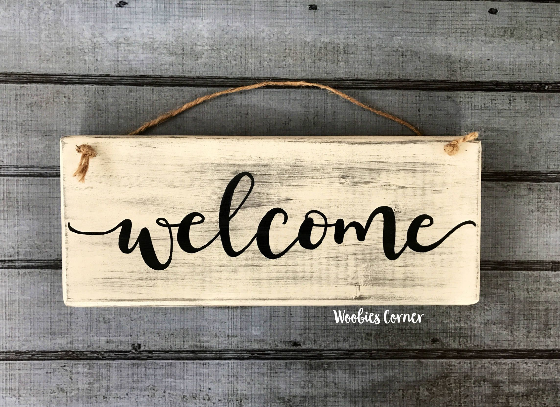 Wood welcome sign, Rustic home decor, Welcome sign, Welcome home ...