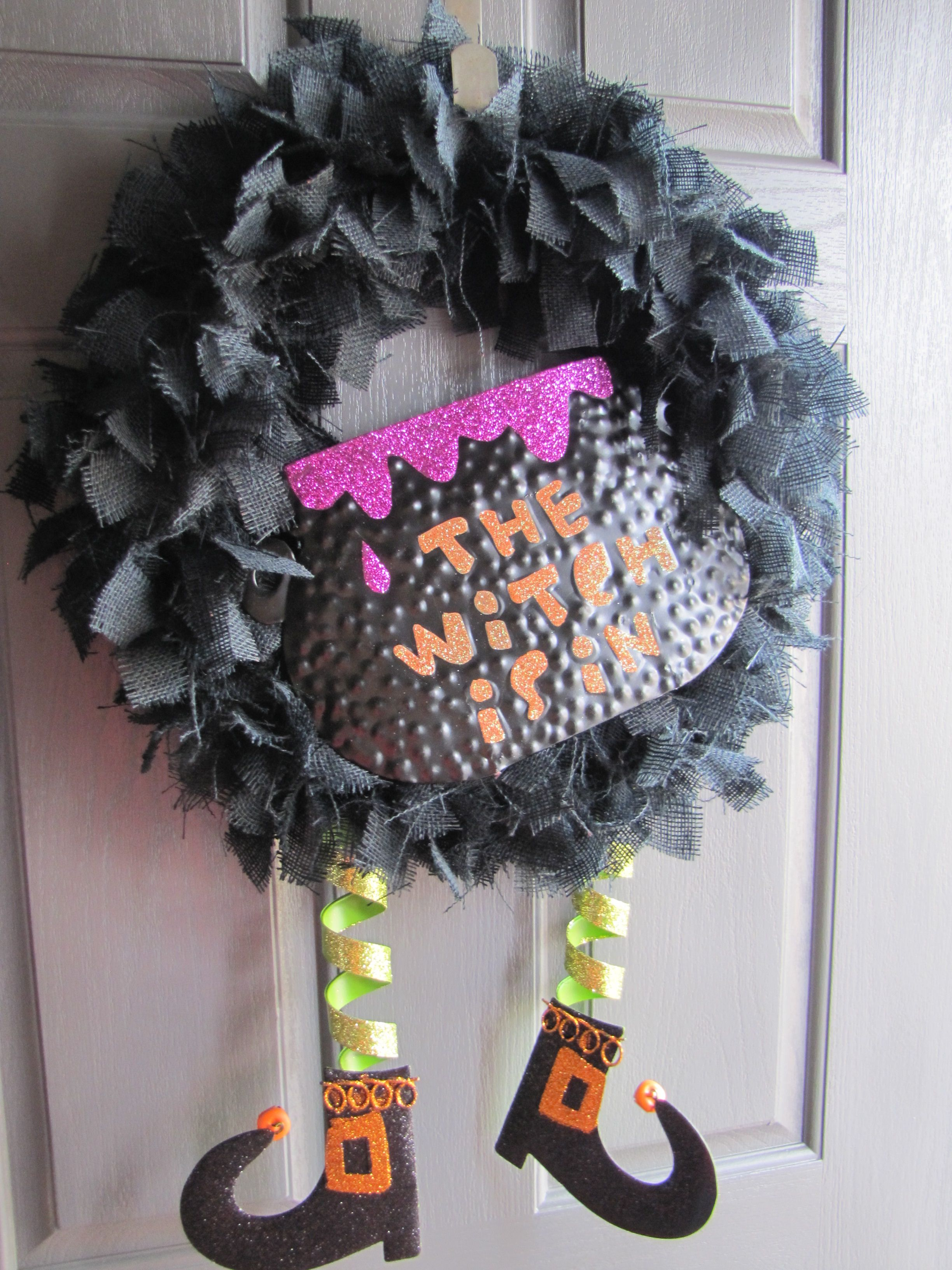 Burlap wreath w/ decoration from Hobby Lobby Halloween Pinterest - Hobby Lobby Halloween Decorations