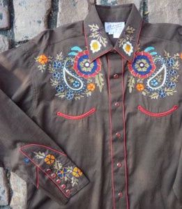 50d24ded Rockmount Ranch Wear Ladies' Vintage Western Shirt: Paisley Western Brown  S-XL