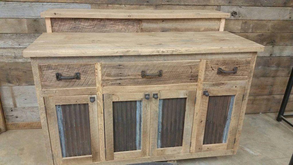 Custom Made Rustic Barn Wood Bar, Island or Cabinet CBBIC1800F | My ...