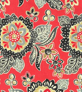 Waverly Modern Essentials Print Fabric- Tilt And Twirl Lacquer