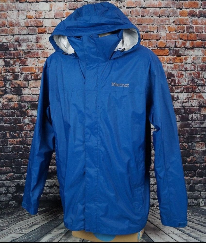 New Marmot Mens Precip Jacket Long Sleeve Full Zip Outdoor Jacket