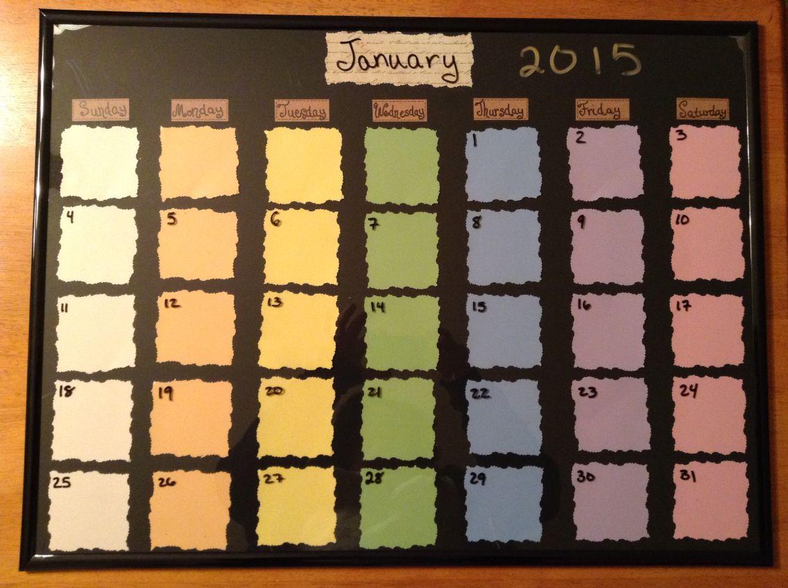 Diy Dry Erase Calendar For 1088 Before Tax I Got Everything