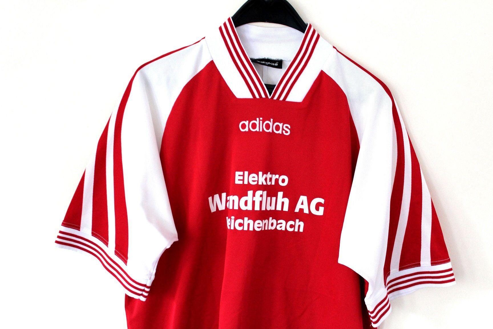 90 S Football Shirt Made In Portugal Vintage Adidas Etsy Soccer Shirts Vintage Adidas Baseball Jersey Shirt [ 1152 x 1728 Pixel ]