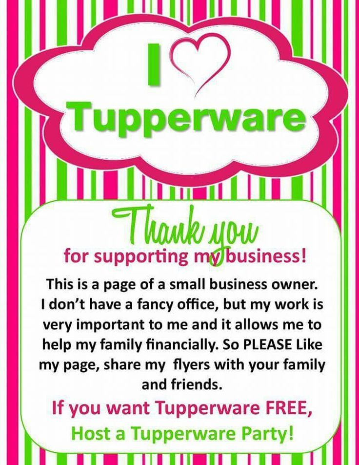 Pin by Direct Sales Training - PartyPlanDivas on Tupperware Business ...