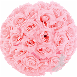 Rose flower ball. Could be hung around the reception, or around the arch for the ceremony!