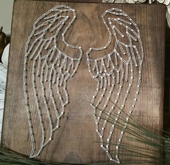 Items similar to Angel Wing string art on Etsy