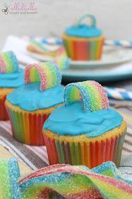 ullatrulla backt und bastelt: Regenbogen-Muffins: Wo steigt hier die Einhornparty? #festmad