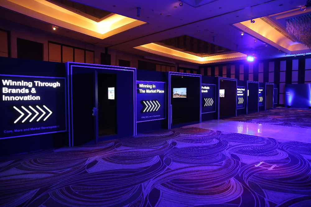 Unilever Event On Behance Event Entrance Design Corporate Events Decoration Tv Set Design