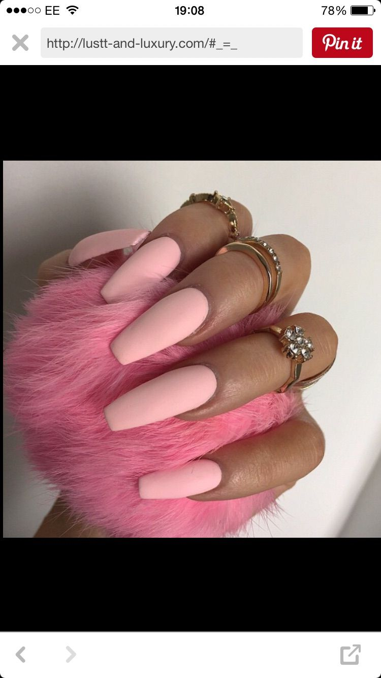 baby pink | nails | Pinterest | Matte nails, Matte nail art and Dope ...
