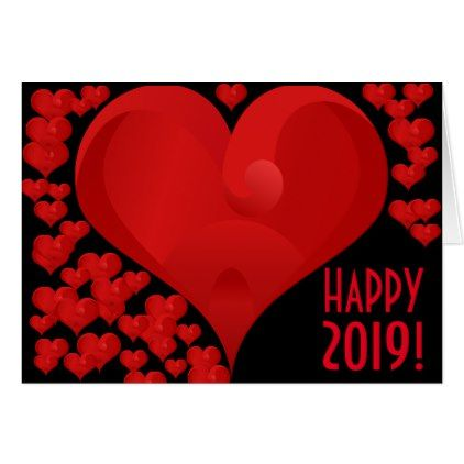 happy new year 2019 sweet valentine love heart red card love cards couple card ideas - Valentine Love Cards