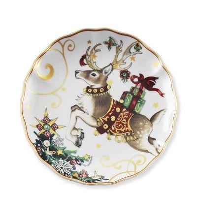 T\u0027was The Night Before Christmas Salad Plates Set of 4 Reindeer #  sc 1 st  Pinterest & My beautiful Christmas dinnerware from Kohl\u0027s- St. Nicholas Square ...