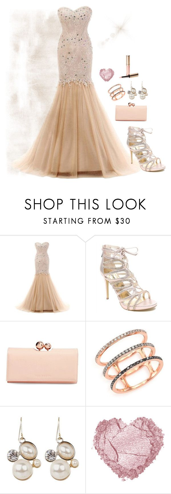 """""""Nameless"""" by born2create on Polyvore featuring Bebe, Ted Baker, EF Collection and By Terry"""