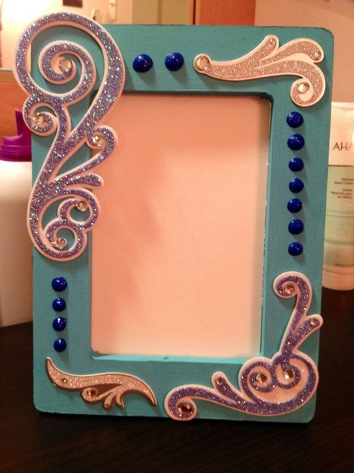 Handmade picture frame blue silver glitter by rachaelerika handmade picture frame blue silver glitter by rachaelerika 1500 sciox Image collections