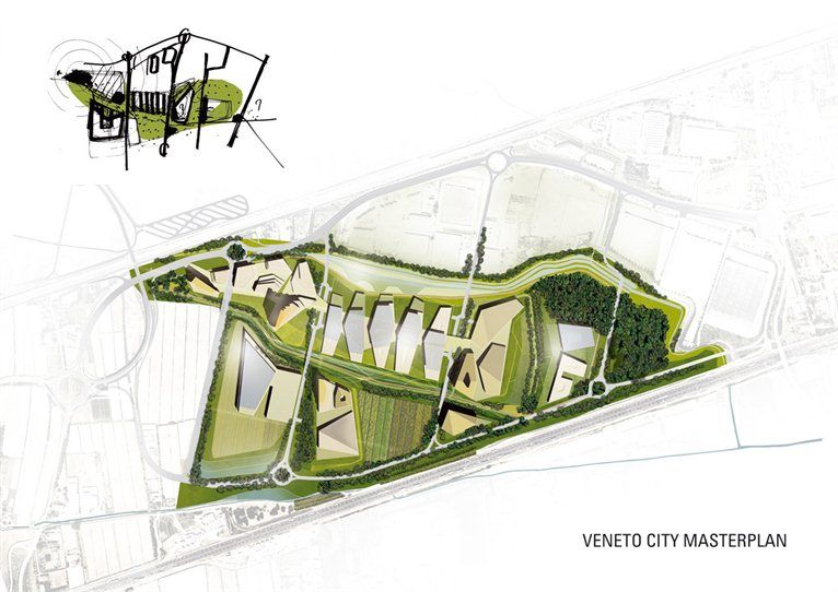 Veneto Green City Masterplan Picture Gallery Green City Landscape Architecture Drawing Architecture Drawing