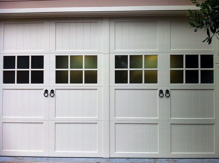 Fleur De Lis Ring Pulls On Overhead Garage Doors Garage Door Styles Doors Garage Door Types