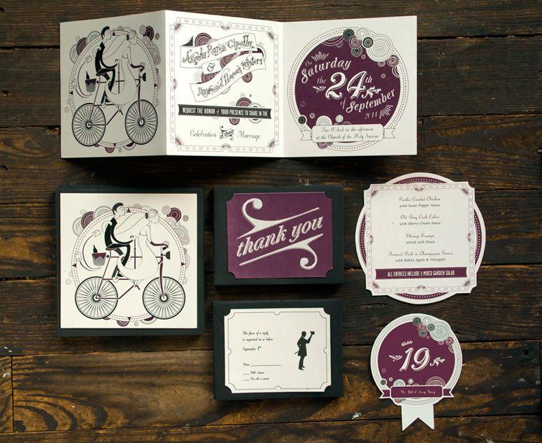 lovely illustration, ample hand work and speedy digital printing, Wedding invitations