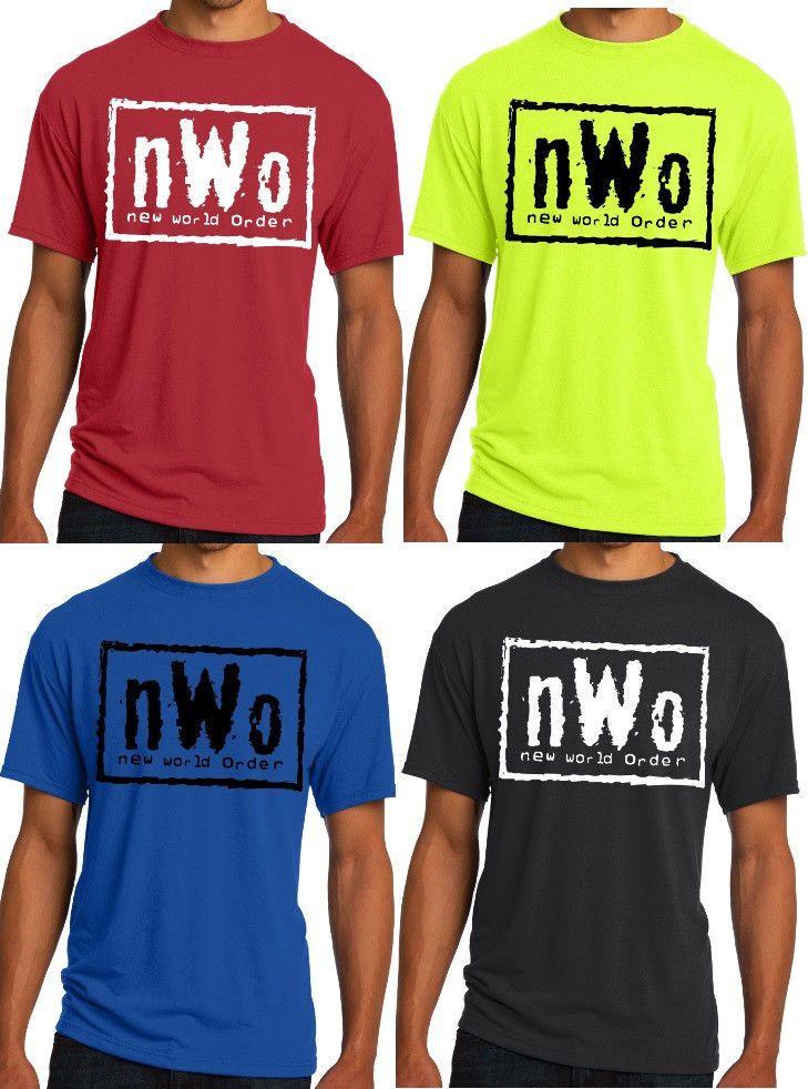 New Mens T-shirt nWo New World Order Black White Logo S M L XL 2XL 3XL 4XL 5XL #Jerzees #GraphicTee