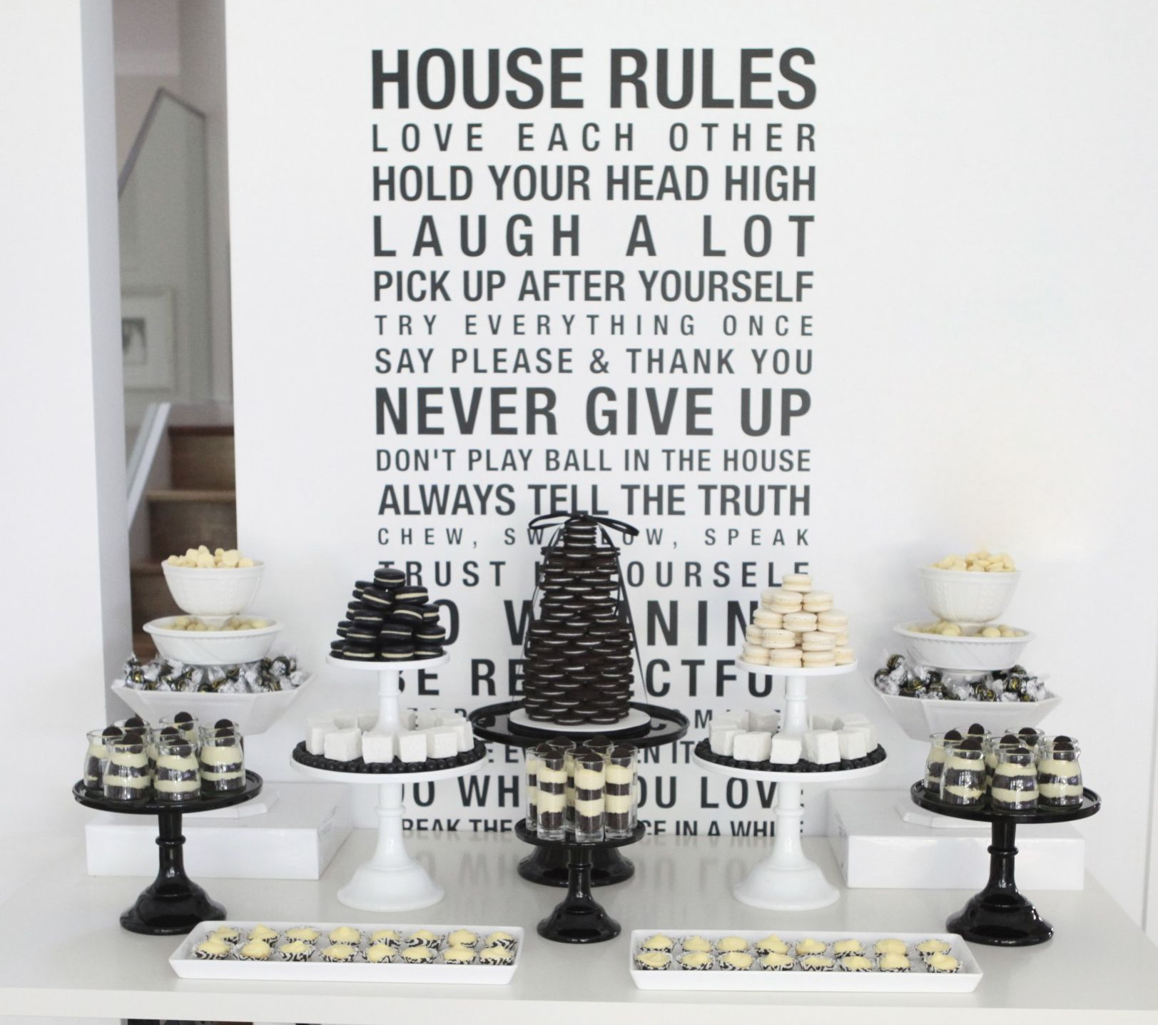 A Black And White 40th Birthday Dessert Table My 40th