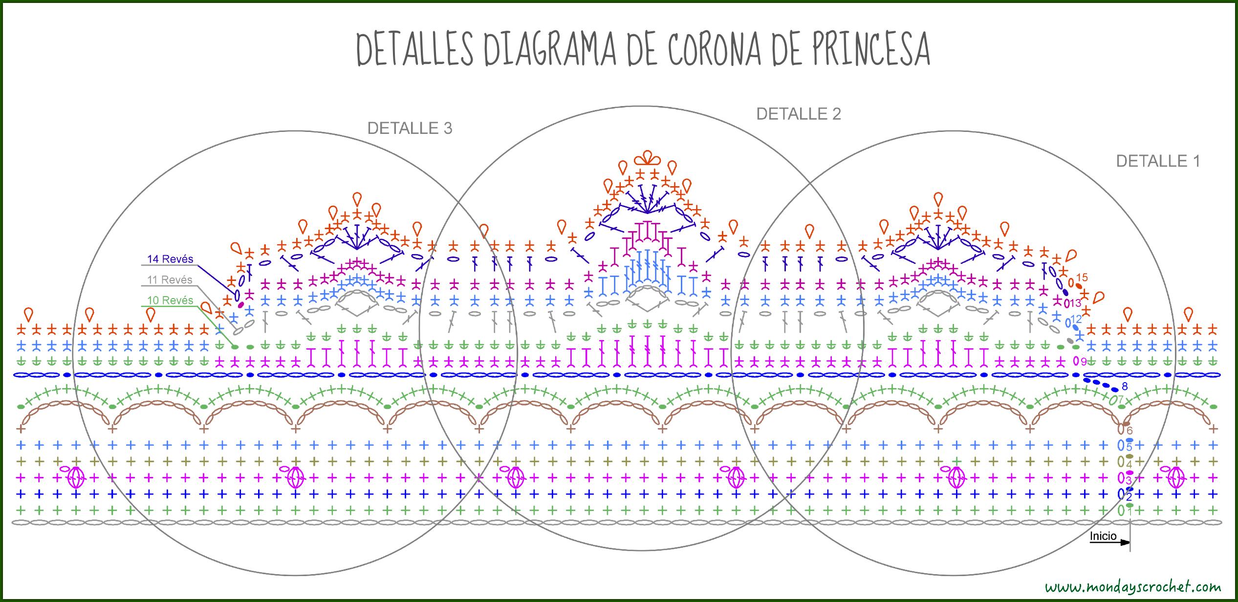 Contemporáneo Patrón De La Corona Del Bebé Del Ganchillo Libre Fotos ...
