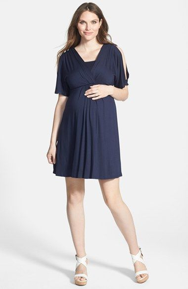 c1920fa7a53 Free shipping and returns on Maternal America Split Sleeve Maternity Dress  at Nordstrom.com. A stretchy dress with flowy open-top sleeves is sure to  be a ...