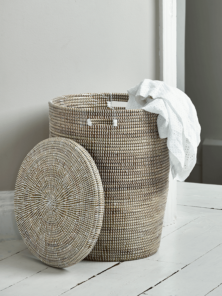 Handwoven Laundry Basket Large Laundry Hamper Laundry In Bathroom Laundry Room Decor