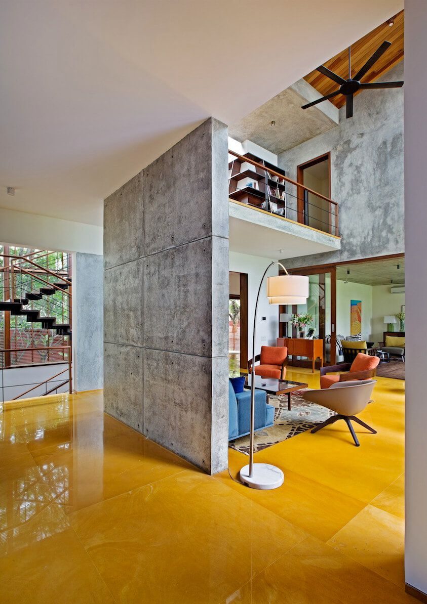 jaisalmer yellow sandstone floors accent this indian home http
